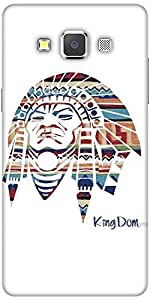 Snoogg Red Indian Hard Back Case Cover Shield For Samsung Galaxy A7