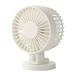 Tofern Updated Portable USB Powered Mute Double Blades Adjustable Mini Electric Desk Fan For Office Home School Travel, white