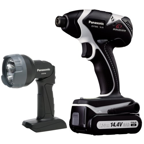 Panasonic EY7540LN2L 14.4 Volt Li-ion Impact Driver Kit with Light