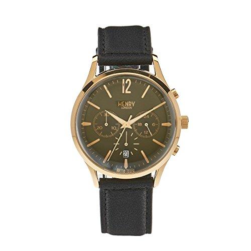Henry ltext-Orologio da polso cronografo Chiswick London luenette in pelle HL41 - CS-0106