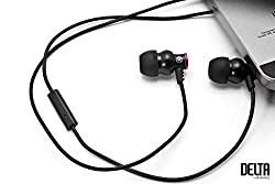 Brainwavz Delta Black IEM Earphones With Remote & Mic For Android Phones, Tablets & Other Android OS Devices