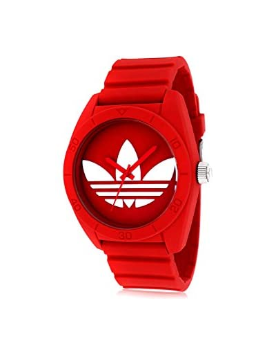 Adidas Unisex ADH6168 Santiago Red Watch With Red Silicone Band