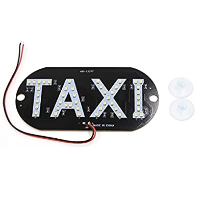 uxcell® Auto Car Windscreen Cab Sign White SMD 45 LED Taxi Light Lamp DC 12V