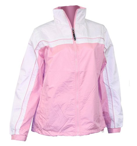 Apparel No. 5 Women's Smart Windbreaker Jacket,Large,Pink / White