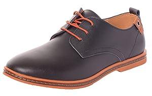 Serene Men's Leather Soft Dress Driver Sneakers Oxfords Shoes(10.5 D(M)US,black)