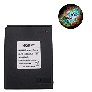 HQRP 1600mAh Ni-MH Battery for Icom IC-A21 Two Way Radio Replacement plus HQRP Coaster