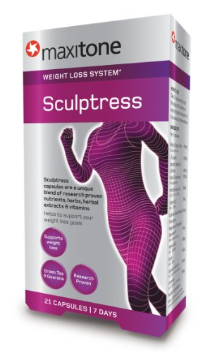 Maxitone Sculptress Weight Loss System Capsules - Tub of 21