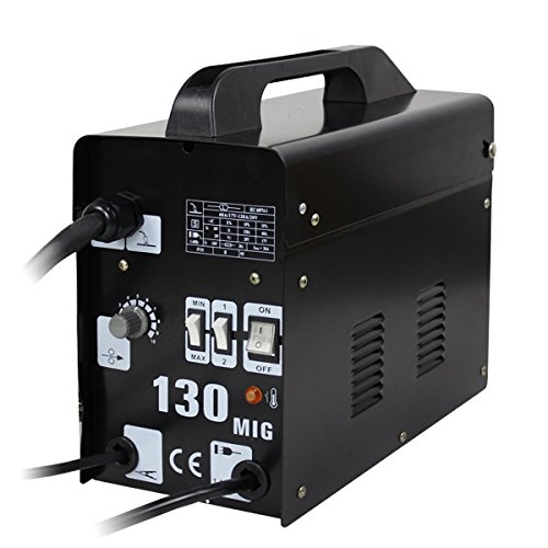 Why Should You Buy Super Deal Black Commercial MIG 130 AC Flux Core Wire Automatic Feed Welder Weldi...