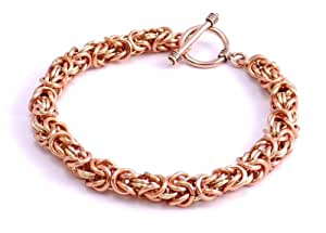 Hanfords of London Handmade Copper & Brass Byzantine Chainmaille Bracelet