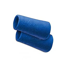 Verceys Blue Sports All Weather And Washable Stuff Long Wrist Band - Pack of 2