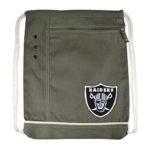 NFL Oakland Raiders Old School Cinch Backpack, Green