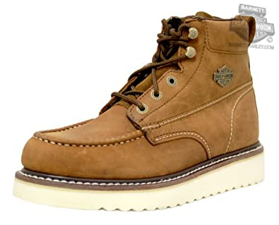 Harley-Davidson Mens Beau Tan Leather Low Cut Boot by Harley-Davidson (Mens)