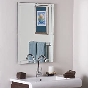 Frameless Beveled Kinana Bathroom And Wall Mirror Wall Mounted Mirrors Patio