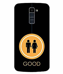 Snazzy Funny Printed Black Hard Back Cover For LG K10