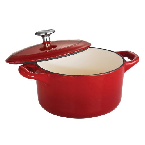Tramontina Enameled Cast Iron Covered Small Cocotte, 24-Ounce, Gradated Red