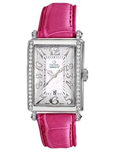 Gevril Avenue of Americas Mini Women's Quartz Watch with Mother of Pearl Dial Analogue Display and White Leather Strap 7249NE