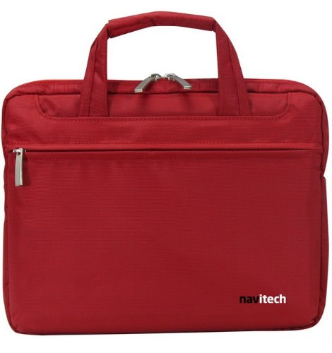 Navitech Kinglike Red Chic Executive Premium Water Defiant & Shock Absorbent Briefcase / Carry Bag Pieces ALL Laptops / Notebooks Between 13.1 - 15.4 Inches Including: Apple, Lenovo, HP, Sony, Asus, Dell, Samsung, Acer, Msi, Toshiba. NEW Offshoot PRICE -