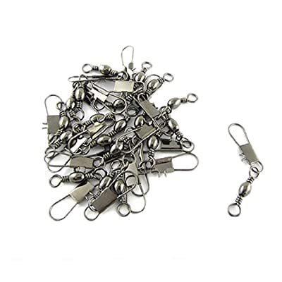Como Grey Fishing Line To Hook Clip Connector Swivels 20pcs from Como