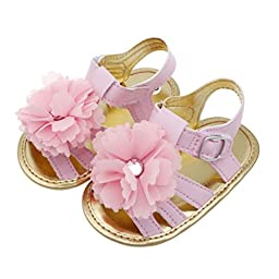 Mosunx(TM) Baby Girls Kids Prewalker Shoes Princess Toddler Soft Soled Anti-slip Sandals (2, Pink)