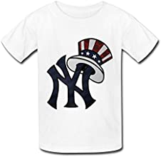 LQQ Big Girls39 Mlb New York Yankees Logo T Shirt For Kids White