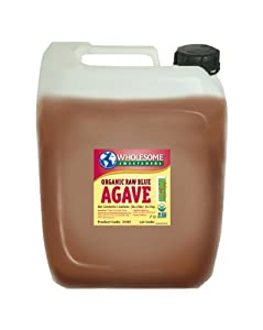 Wholesome Sweeteners Organic Blue Agave, Raw, 5-Gallon Jug