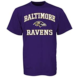 NFL Baltimore Ravens Heart and Soul T-Shirt - Purple by Nutmeg