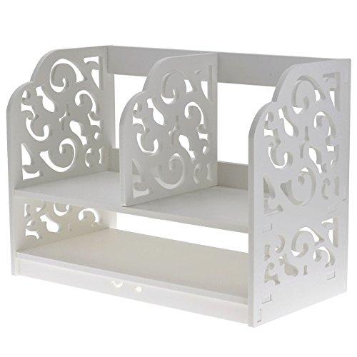 Ayliss-DIY-Holz-Multifunktion-Schreibtisch-Regal-Tischorganizer-Bcherregal-Aufbewahrungsregal-Stapelregal-Wei