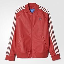 adidas Originals Women's Quilted Jacket (AB2222_Red_34)