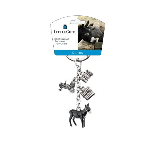 Littlegifts Key Chain, Donkey Farm Animal