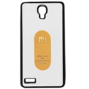 Casotec Metal Back TPU Back Case Cover for Xiaomi Redmi Note - White