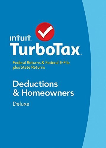 TurboTax Deluxe 2014 Deductions & Homeowners, Federal Returns & Federal E-File plus State Returns (PC & Mac) - 424517
