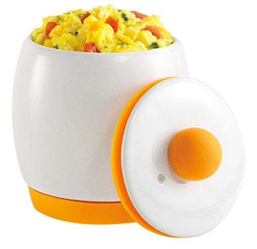 As Seen on TV Egg-Tastic Microwave Egg Cooker and Poacher for Fast and Fluffy Eggs, White/Orange