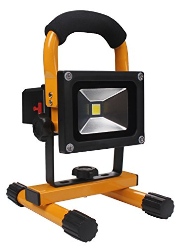 Hi Power Outdoor Portable Work Light 10W Rechargeable Led Floodlight (Ip65 Waterproof)