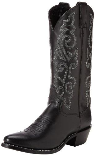 "Justin Boots Men's 13"" Western Boot Medium Round Toe,Black London Calf,9 B US"
