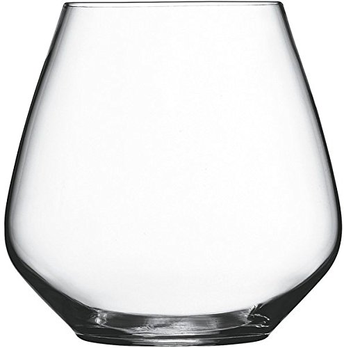 Circleware Symphony Stemless Red White Wine Glasses, Set of 4, 17 Ounce, Limited Edition Glassware (Dessert Red Wine compare prices)