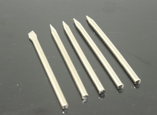 ZITRADE NEW 5 Soldering Tips Included 4pcs Sharp Tip And 1pcs Flat Tips 60W For Soldering Iron by ZITRADES