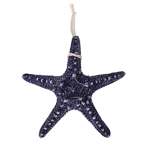 UNIQUEBELLA-Nautical-Beach-Resin-Cute-Starfish-Decoration-Mediterranean-Style-Design-Wall-Hanging-Color-Deep-Blue-236-Inches