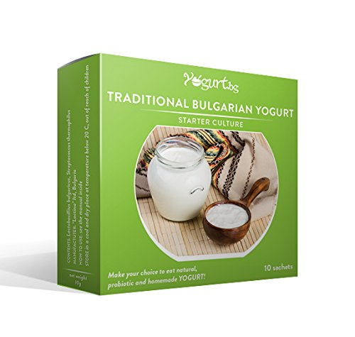 Yogurt.bg Starter Culture for Traditional Bulgarian Yogurt - 10 Sachets for 10 Liters Original Homemade Bulgarian Milk Product (Yogurt Culture Heirloom compare prices)