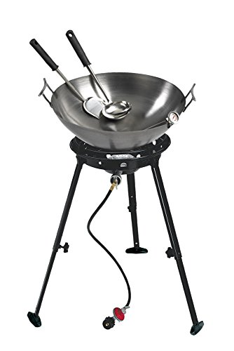 Eastman Outdoors 37212 Outdoor Gourmet 22 Inch Carbon Steel Wok Kit (22 Inch Frying Pan compare prices)