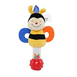Ks Kids Stick Rattle - Clever Bee, Multi Color