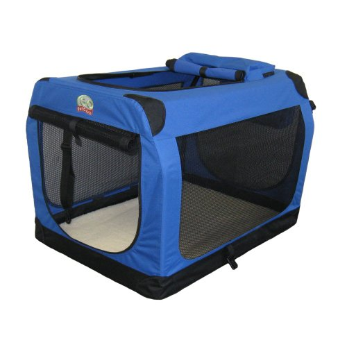Go Pet Club Soft Crate For Pets, 32-Inch, Blue