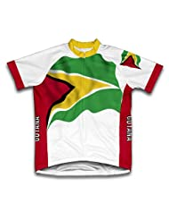 Guyana Flag Short Sleeve Cycling Jersey for Women