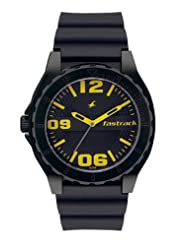 Fastrack Analogue Black Dial Men Watch - (9462AP04)