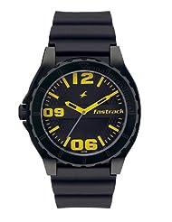 Fastrack Analogue Black Dial Men Watch - (9462AP04)