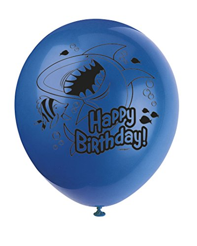 "12"" Latex Fin Friends Birthday Balloons, 8ct"