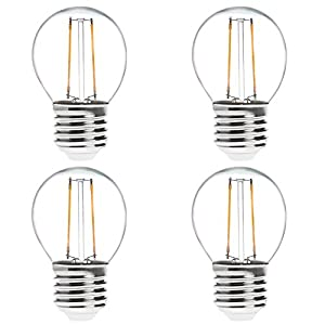 HERO-LED G16 E26/E27 Edison Style LED Vintage Antique Filament Bulb, Squirrel Cage Nostalgic Tungsten Filament Replacement Incandescent Bulbs, For Use in Bistro Lights, Large Tents, Decorative Wedding Lights, Decorative Light Strands, Commercial Light Str