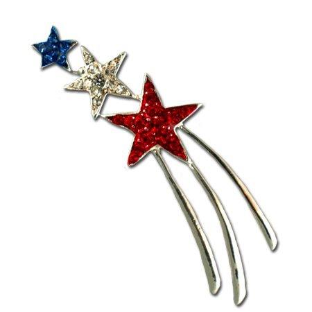 Patriotic Shooting Star Brooch/Pin
