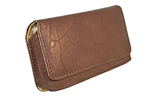Branded Premium Hand Pouch For Huawei M886 - Brown - HDPBR43#0544