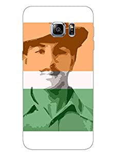 Bhagat Singh - The Legend - Patriotic Indian - Hard Back Case Cover for Samsung S6 Edge Plus - Superior Matte Finish - HD Printed Cases and Covers