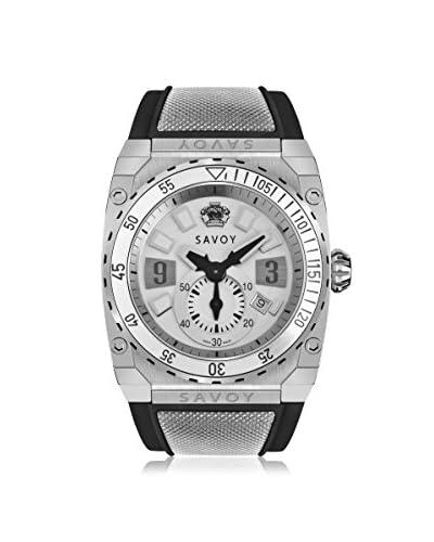 Savoy Men's A1102A.04A.RB05 Black/White Rubber Watch